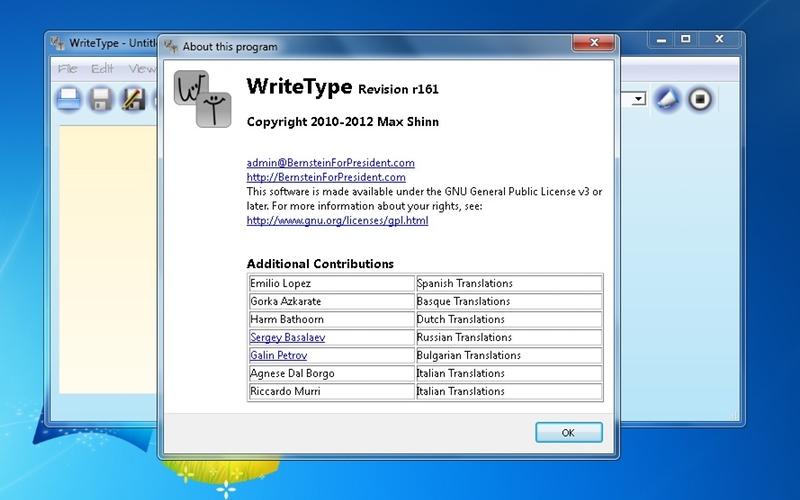 Screenshot af WriteType