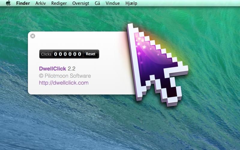 Screenshot af DwellClick til Mac