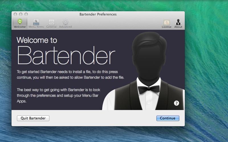 Screenshot af Bartender für Mac