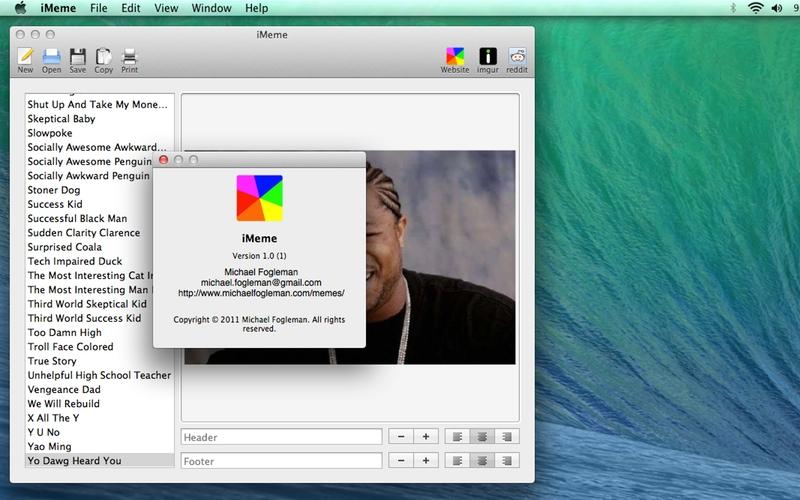Screenshot af iMeme für Mac
