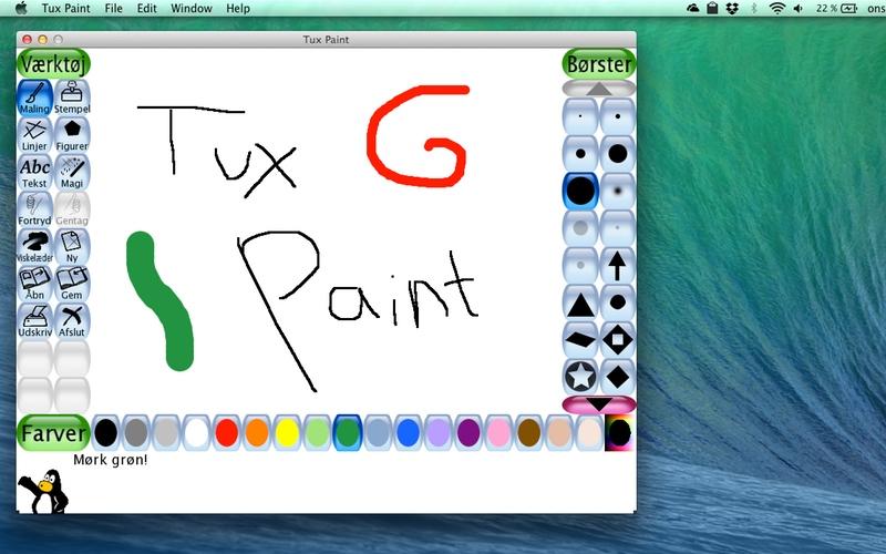Screenshot af Tux Paint für Mac
