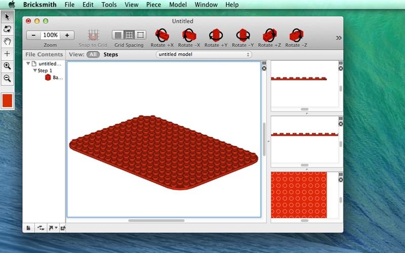 Screenshot af BrickSmith für Mac