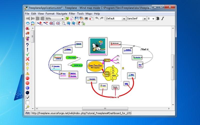 Screenshot af Freeplane