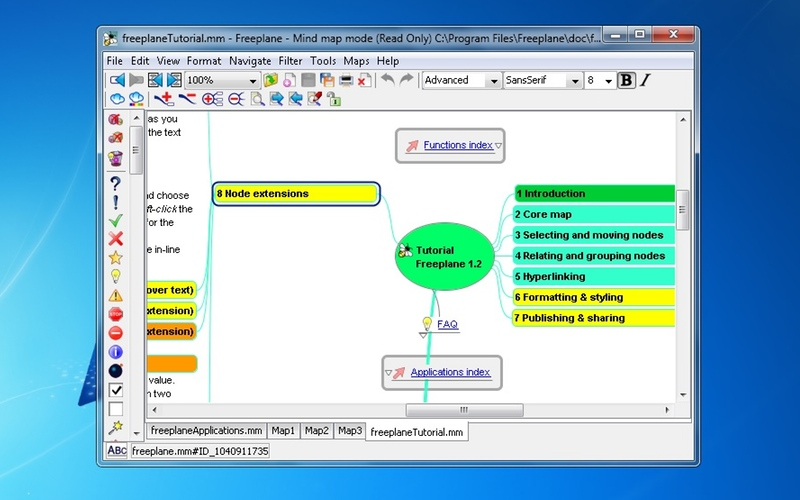Screenshot af Freeplane til Mac
