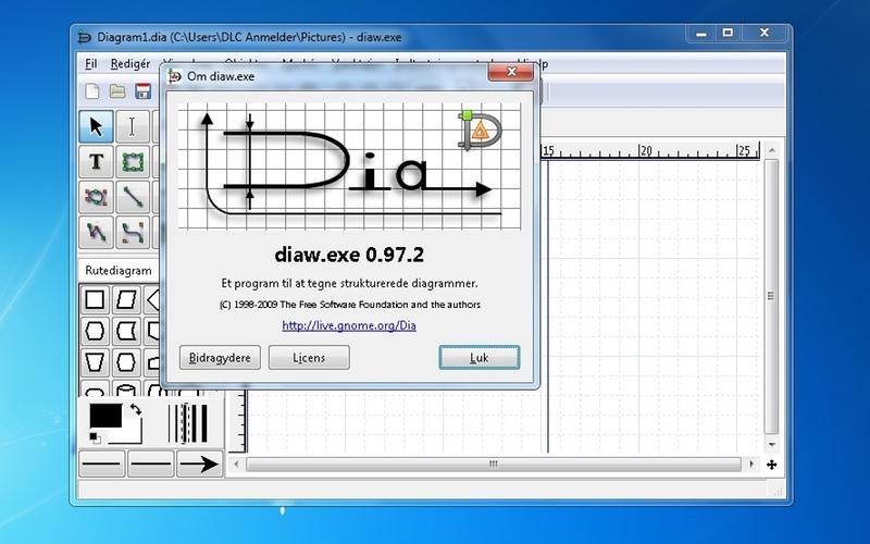 Screenshot af Dia für Mac