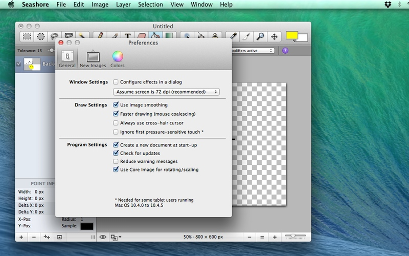 Screenshot af Seashore für Mac
