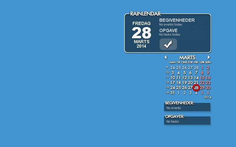 Screenshot af Rainlendar Lite für Mac