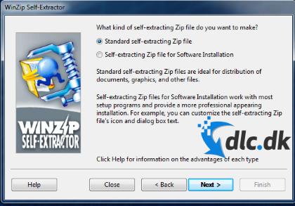 Screenshot af WinZip Self-Extractor