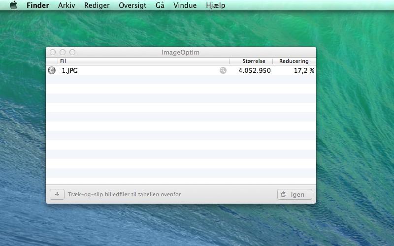 Screenshot af ImageOptim für Mac
