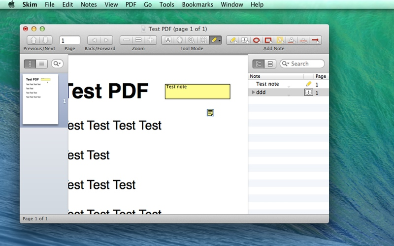 Screenshot af Skim für Mac