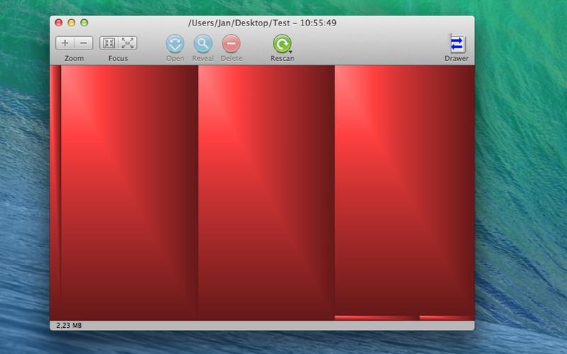 Screenshot af GrandPerspective für Mac
