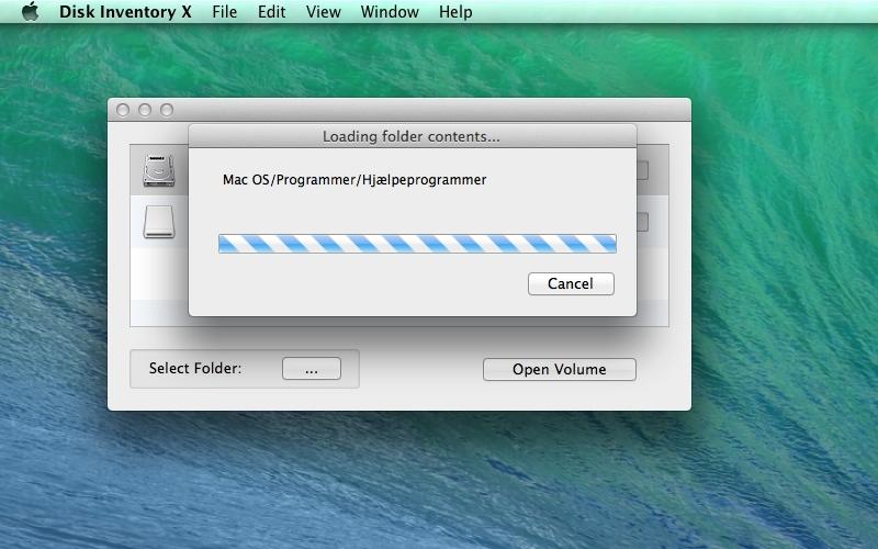 Screenshot af Disk Inventory X für Mac