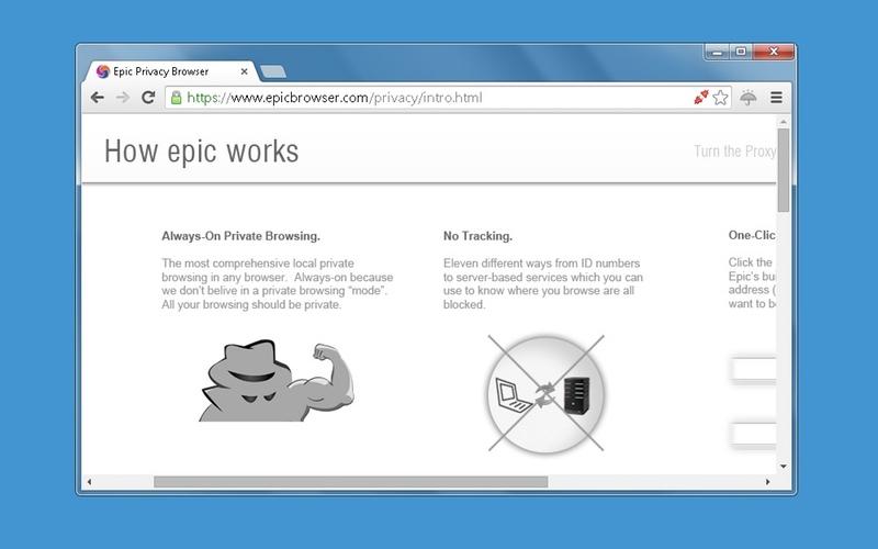 Screenshot von Epic Privacy Browser für Mac (Deutsch)