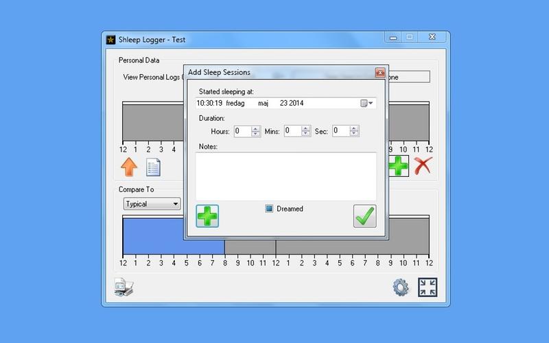 Screenshot af Shleep Logger