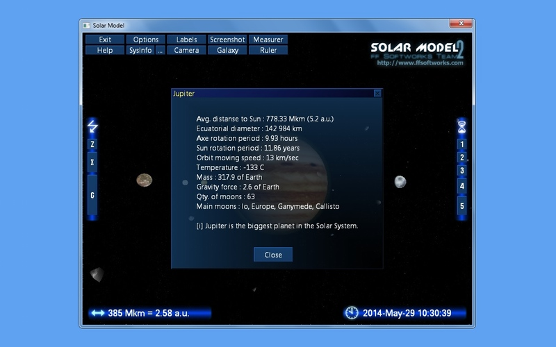 Screenshot af Solar Model
