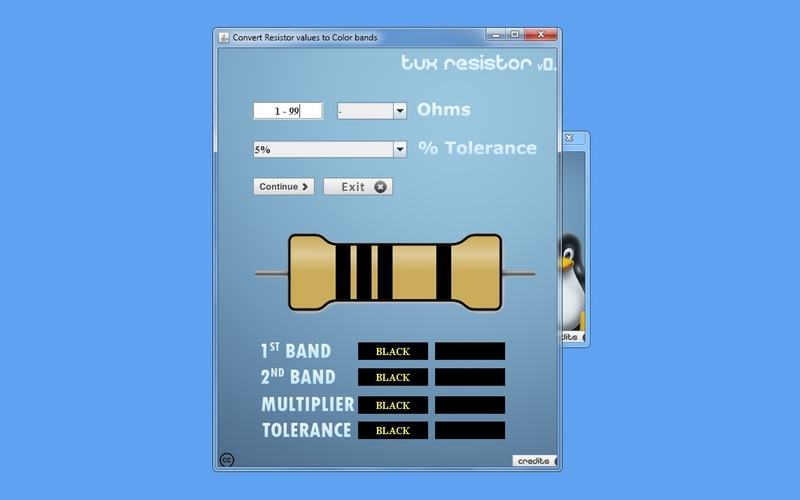 Screenshot af Tux Resistor
