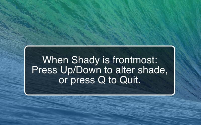 Screenshot af Shady für Mac