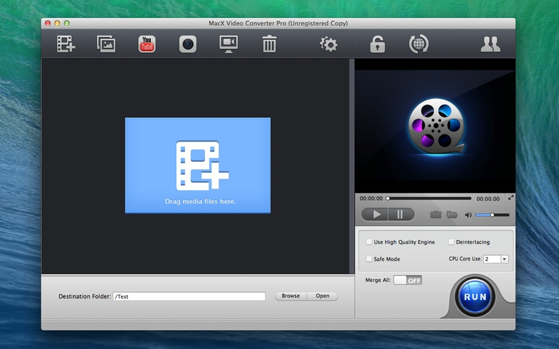 Screenshot af MacX Video Converter Pro für Mac