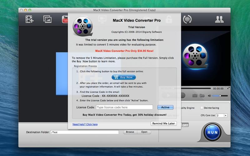 Screenshot von MacX Video Converter Pro für Mac