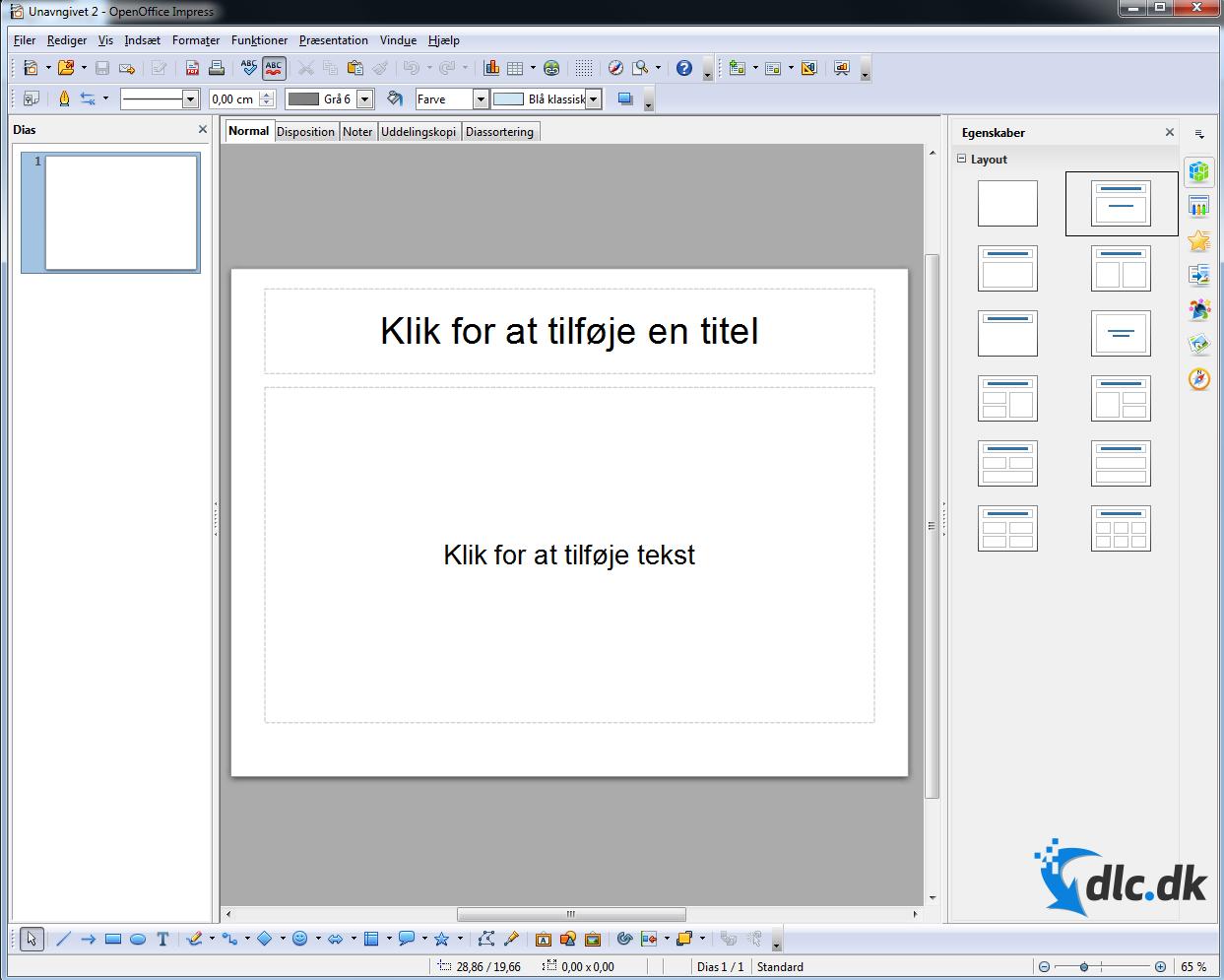 Screenshot af OpenOffice