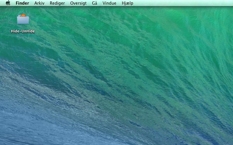Screenshot af Hide-UnHide für Mac