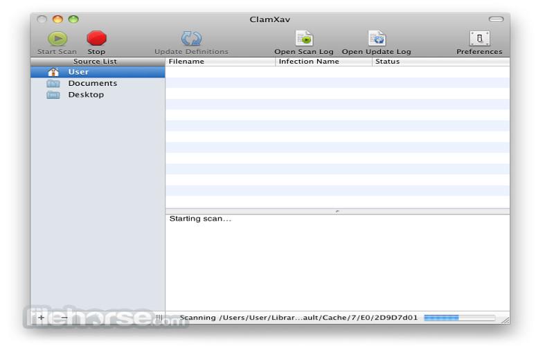 Screenshot von ClamXav für Mac