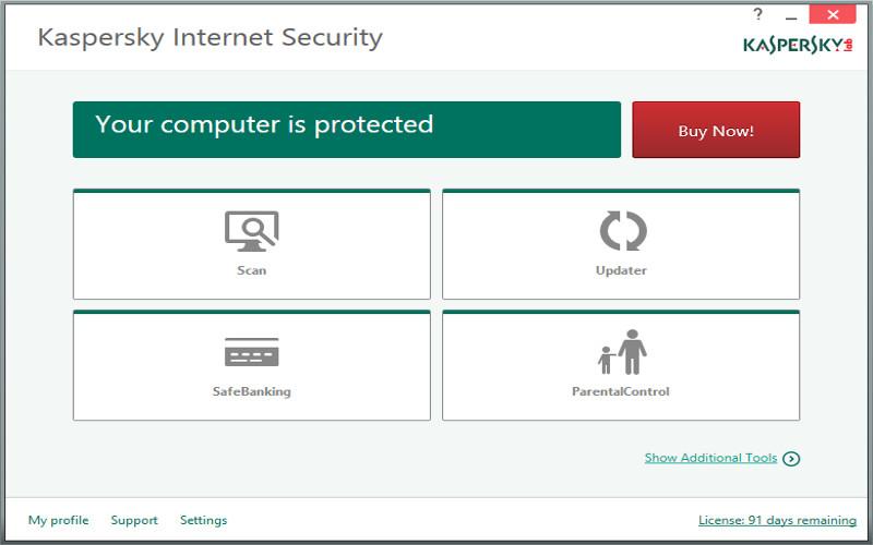 Screenshot af Kaspersky Internet Security für Mac