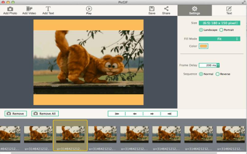 Screenshot af PicGIF für Mac