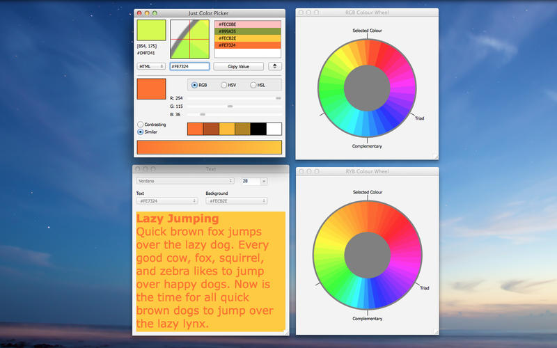 Screenshot af Just Color Picker für Mac