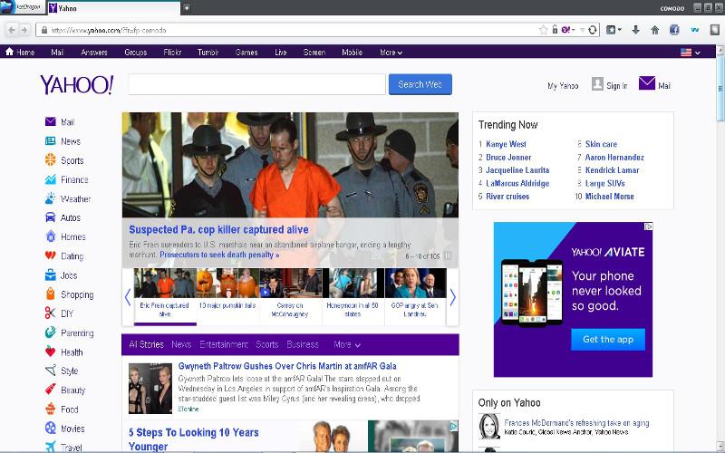 Screenshot af Comodo IceDragon