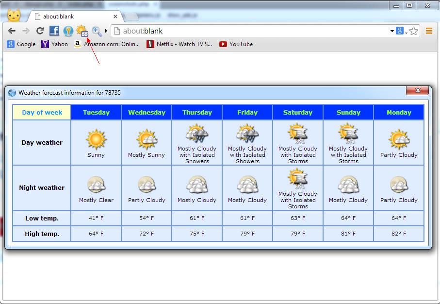 Screenshot af Slimjet