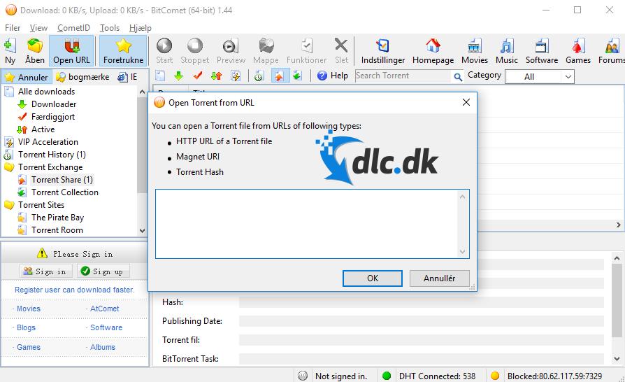 Screenshot von BitComet