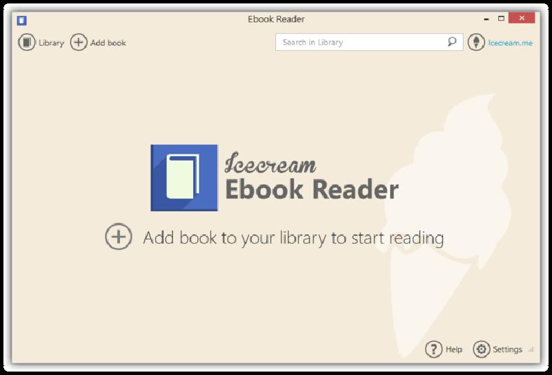 Screenshot af IceCream Ebook Reader