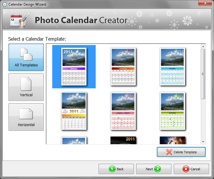 Screenshot af Photo Calendar Creator