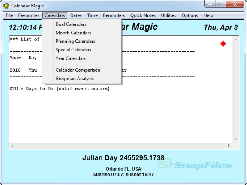 Screenshot af Calendar Magic