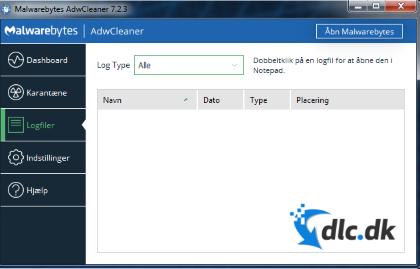 Screenshot af AdwCleaner