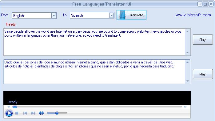 Screenshot af Free Languages Translator