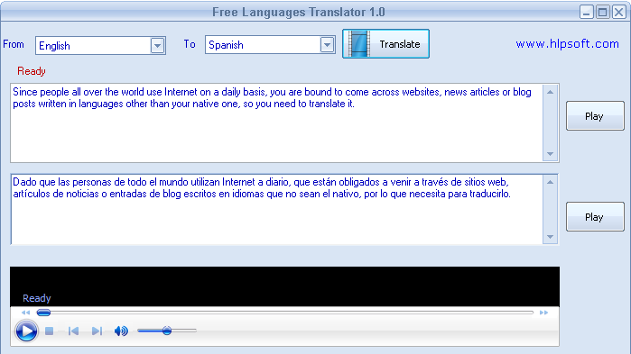Screenshot af Free Languages Translator