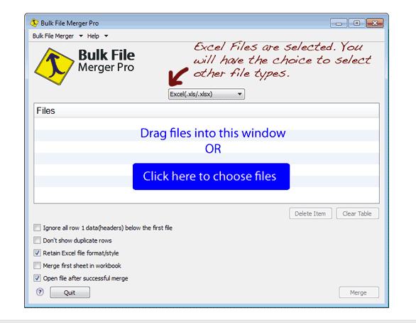 Screenshot von Bulk File Merger (Für Mac)