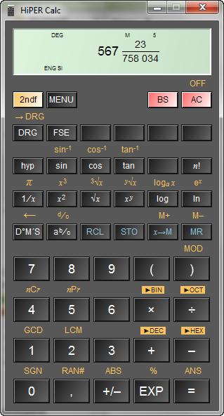 Screenshot af HiperCalc