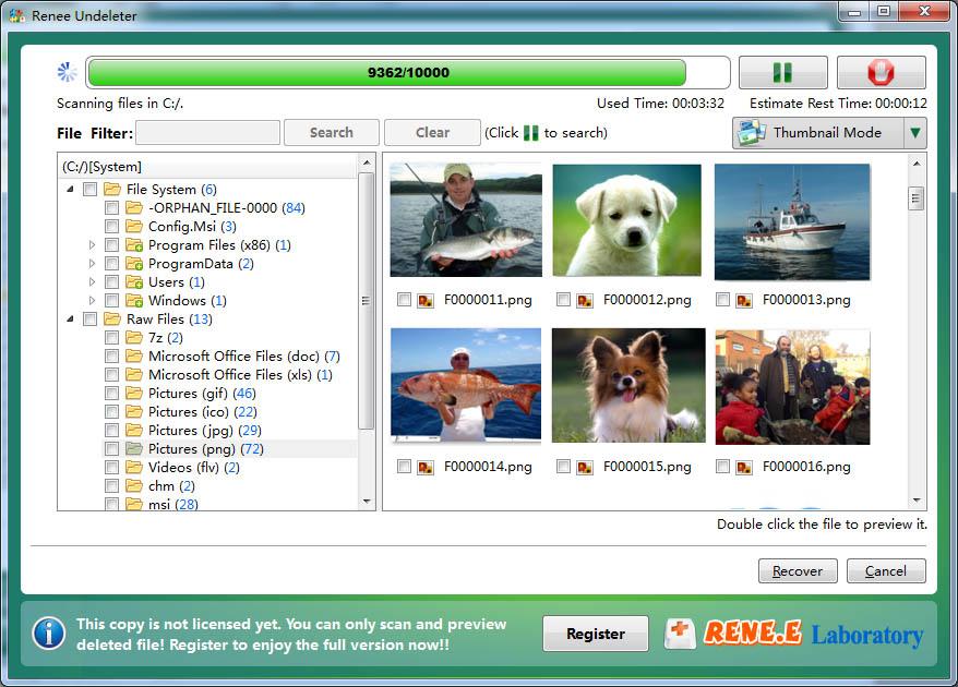 Screenshot af Renee Undeleter für Mac