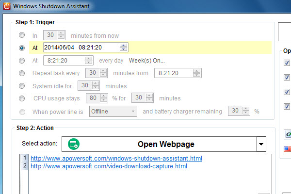 Screenshot af Windows Shutdown Assistant