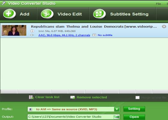 Screenshot af Apowersoft Video Converter Studio