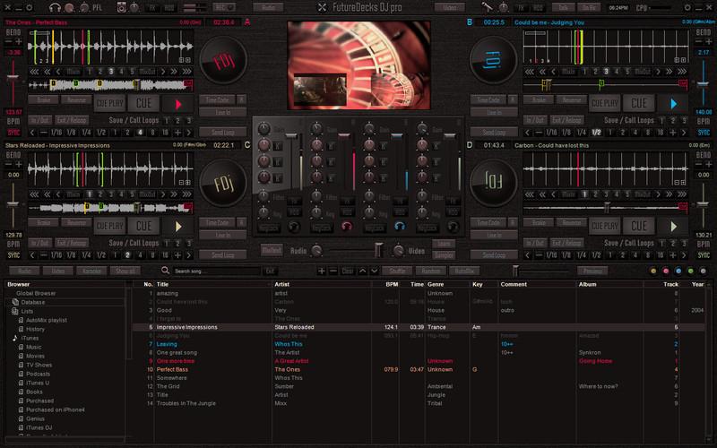 Screenshot af Future Decks DJ Pro für Mac