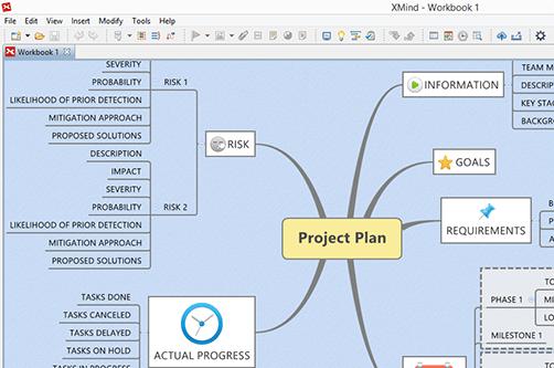 Screenshot af XMind für Mac