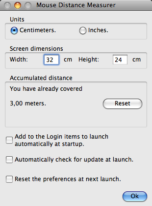 Screenshot af Mouse Distance Measurer