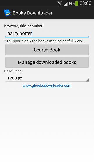 Screenshot af Google Books Downloader für Mac