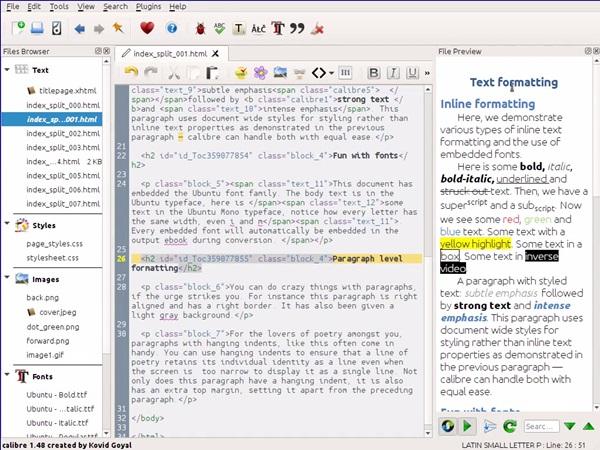 Screenshot af Calibre für Mac