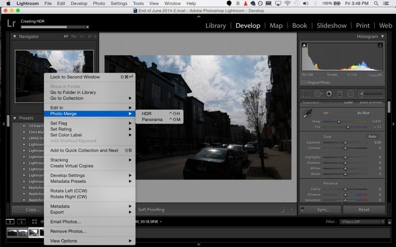 Screenshot af Adobe Photoshop Lightroom til Mac