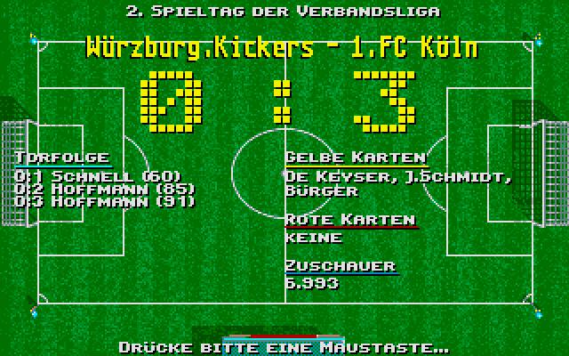 Screenshot af Starbyte Super Soccer